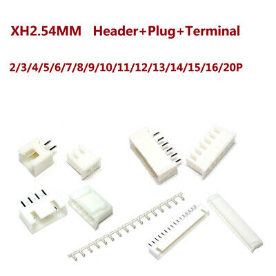 4 Pin JST XH PCB Header and Plug Connector 2.54mm 5 PAIRS XH2.54-4P