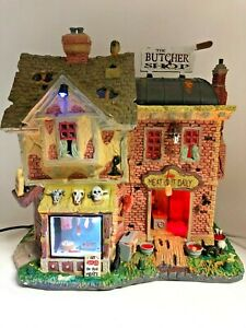 LEMAX SPOOKY TOWN Halloween Village - THE BUTCHER SHOP * Sights & Sounds