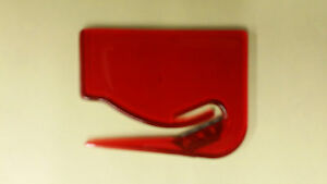 10 Piece Wholesale Lot Red Plastic Letter Opener Office Supplies