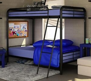 NEW Twin Over Twin Bunk Beds - Black Metal Bed - FREE SHIPPING