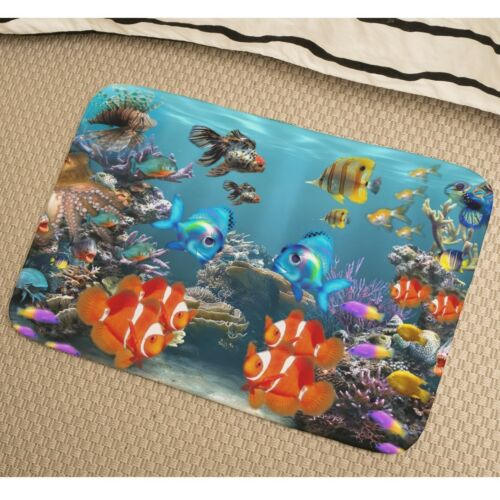 Tropical Fish Soft Absorbent Foam Non-slip Bathmat Bedroom Rug y41 y0310