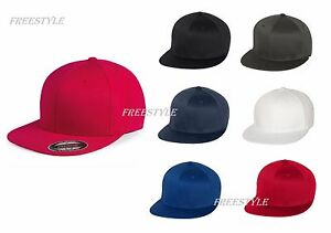 1cce687ac8a Flexfit-Structured Pro-Baseball On Field Flat Bill Cap 6-panel S M L ...