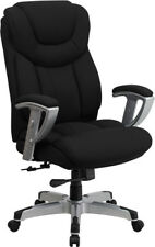 Big Amp Tall 400 Lb Capacity Black Fabric Executive Office Desk Chair With Arms