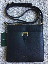 NWT Ralph Lauren Carlisle Ayla Crossbody Shoulder Handbag Purse Lauren Black