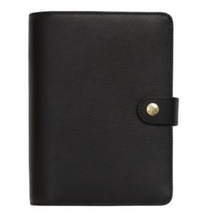 Kikki K Medium Black Leather Planner