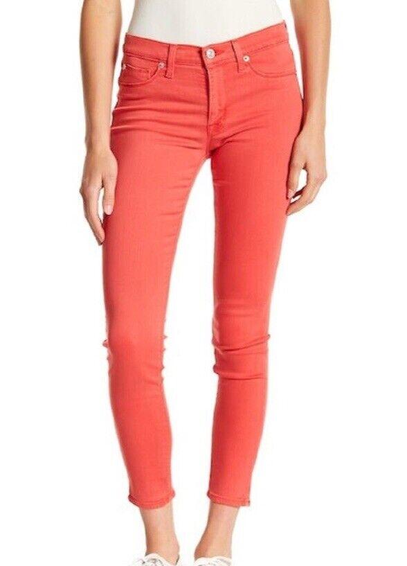 Hudson Jeans Natalie Midrise Cheville Super Skinny Jeans groseille SZ 25