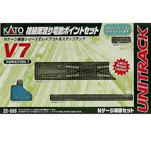 Kato-20-866-Unitrack-V7-Double-Crossover-Track-Set-N