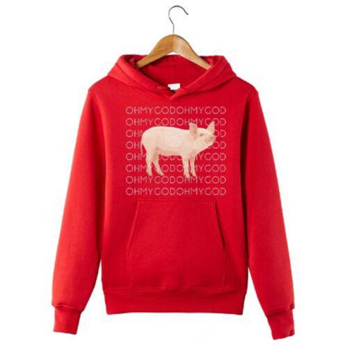 Oh My God Pig Funny Hoodie Shane Dawson Hooded Sweatshirt Jacket Coat Pullover