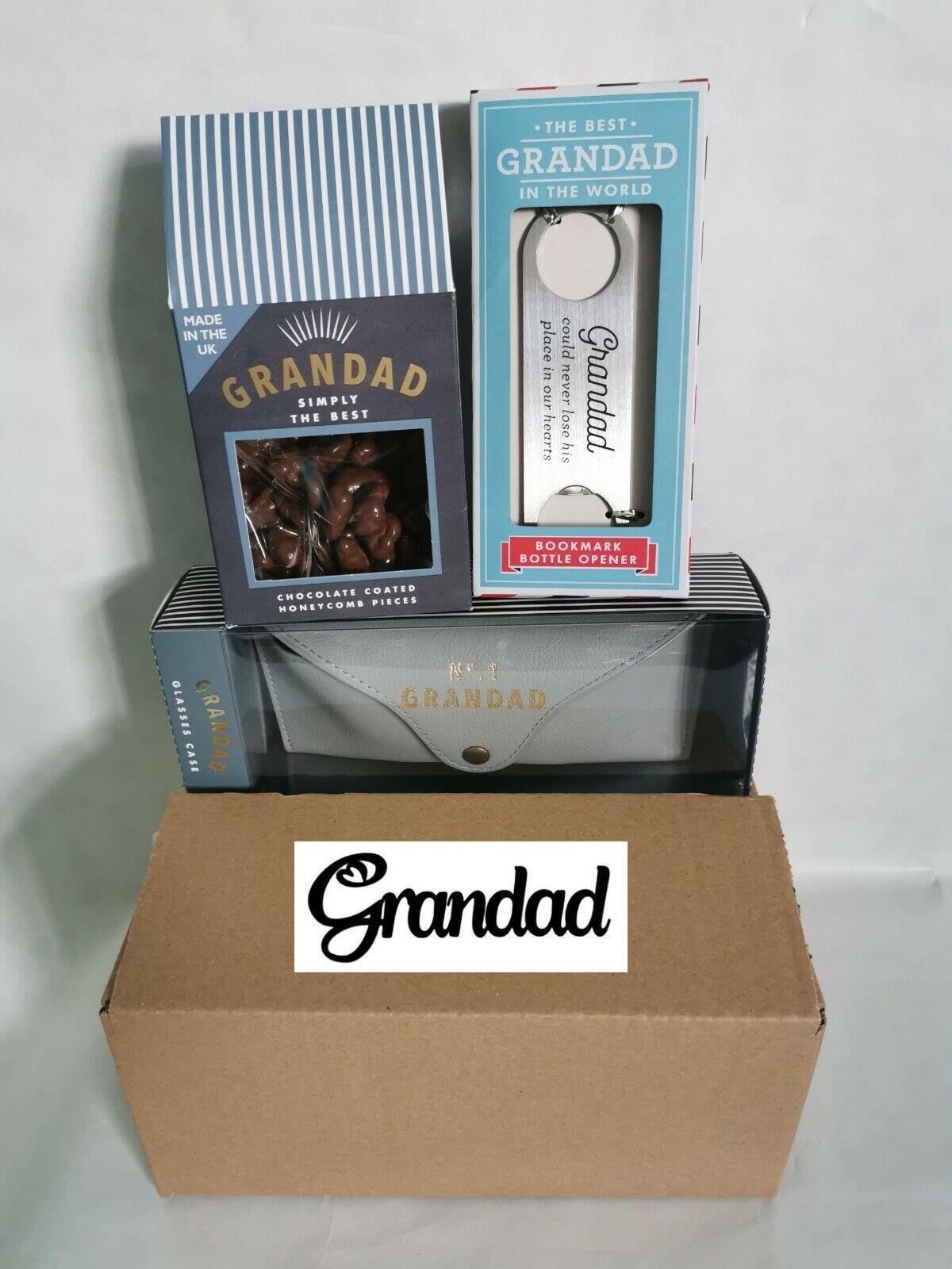 Abuelo Navidad Cesto Conjunto de regalo caja de vidrios Marcador De Chocolate Cumpleaños Mejor