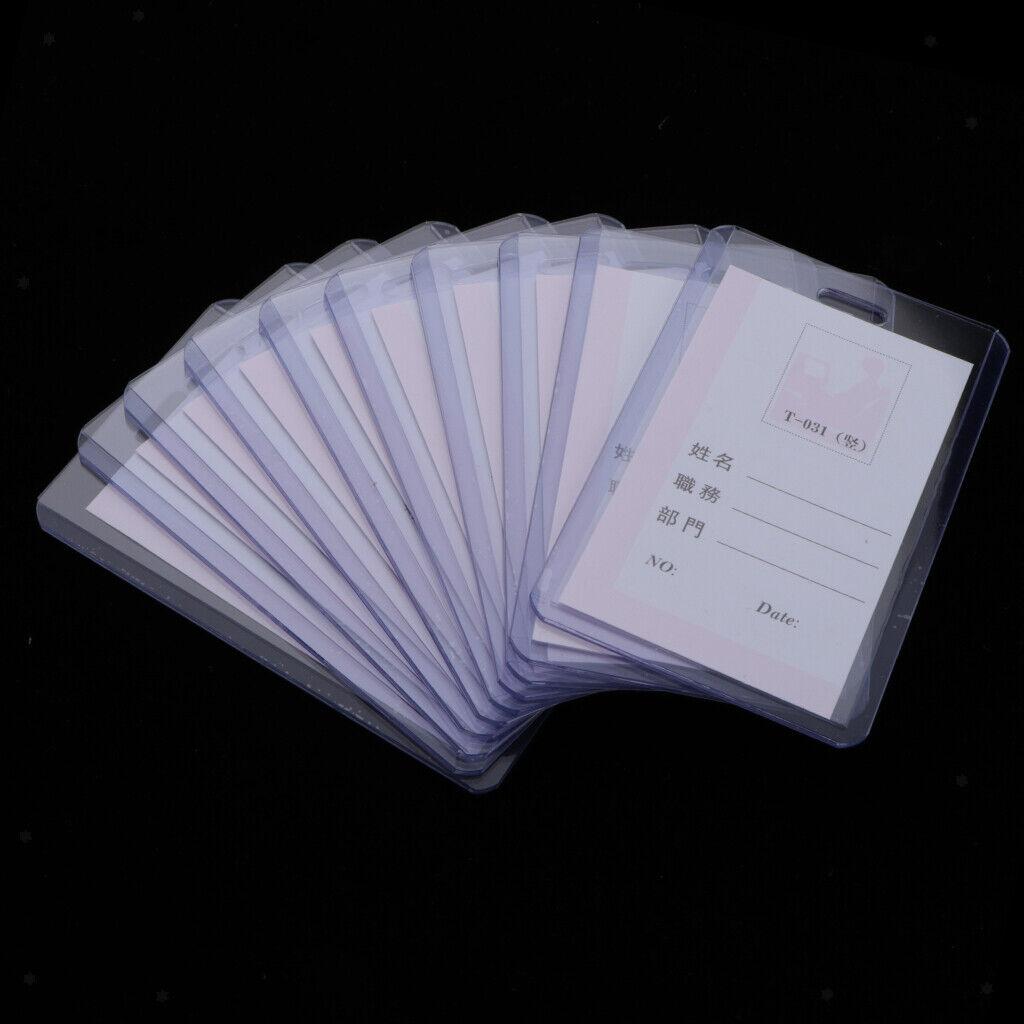 Porte-cartes d'identité transparents verticaux, 10 pièces, double face ECO &