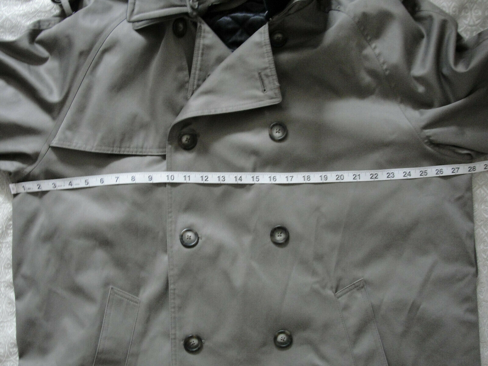 Ralph Lauren Trench coat Olive green Lined Size 4… - image 9