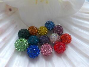 Shamballa-Perlen-Zirkonia-Schmuck-Perle-Ton-Strass-10mm-Polymer-Clay-DIY