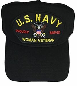 the best attitude 6f5f9 deae7 ... new zealand image is loading usn navy woman veteran proudly served hat  cap 54337 f3392