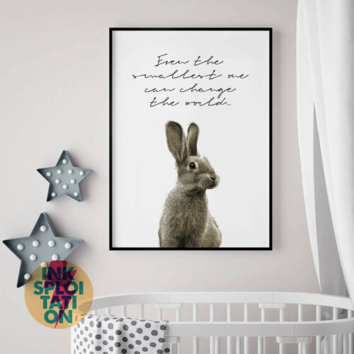 Baby Room Decor Wall Art Nursery Print Even the smallest one Peter Rabbit