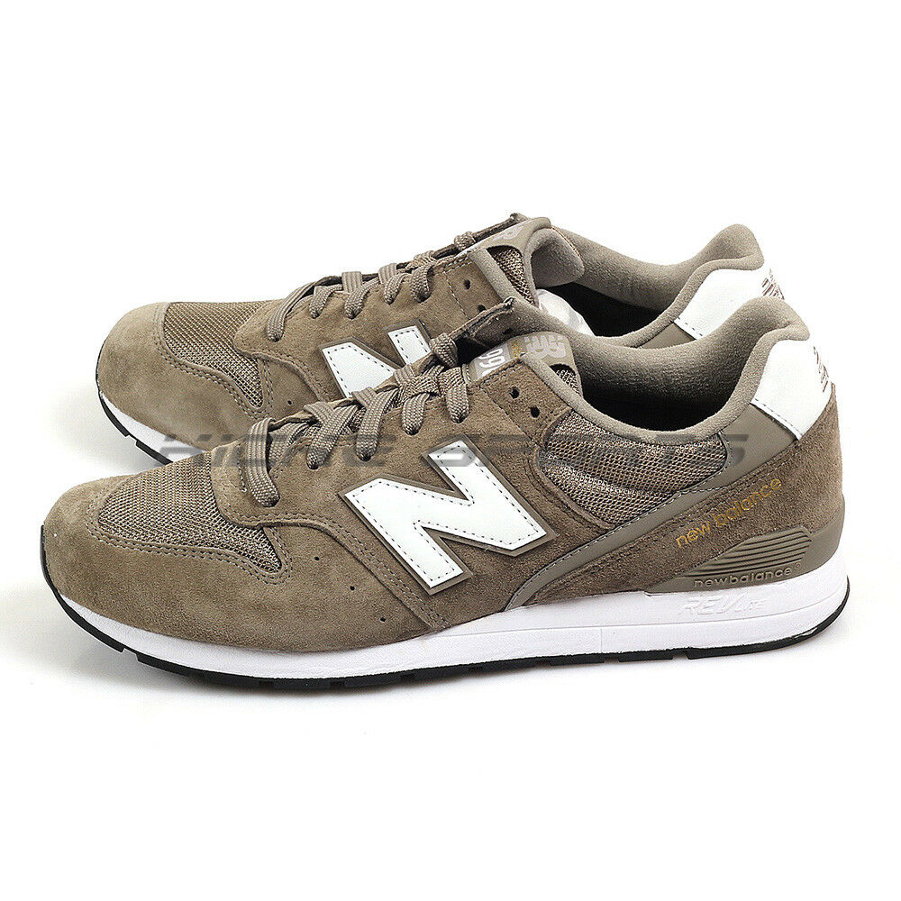 New Balance MRL996PT D Brownish Green & White Classic Suede Lifestyle Sneakers