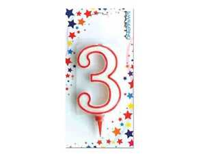Image Is Loading Ds Candle Giant Glitter Number 3 Birthday