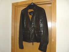 ARMANI JEANS 100% Genuine Leather Men's Jacket.