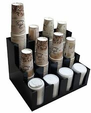 Cup and lid dispensers Holder coffee, Condiment Caddy Cup Rack Sugar Organizer