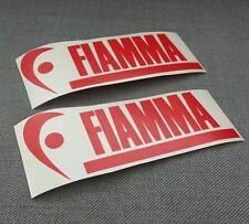 2 x Fiamma Stickers / Decals Caravan Camper T4 T5 Awning, Roof box, Bike rack.
