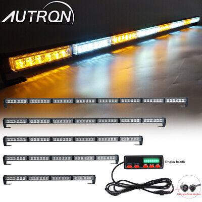 """25/"""" 24 LED Warning Emergency Advisor Directional Strobe Light Bar Amber White"""