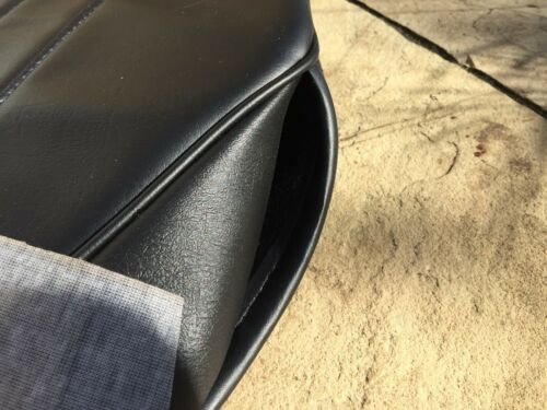 AUSTIN HEALEY FROGEYE SPRITE SEAT COVERS inc hinge Pouches Black// Black Piping