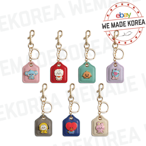 BT21 Baby Leather Metal Keyring Keychain 7types Official K-POP Authentic Goods