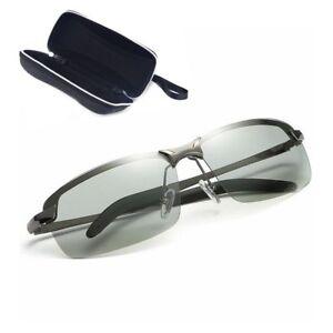 HD-Men-039-s-Polarized-Photochromic-Transition-Lens-Sunglasses-Natural-Material-Lens