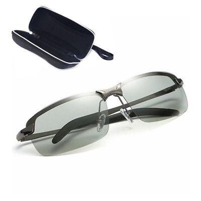 Men/'s Polarized Photochromic HD Transition Lens Sunglasses Natural Material Lens
