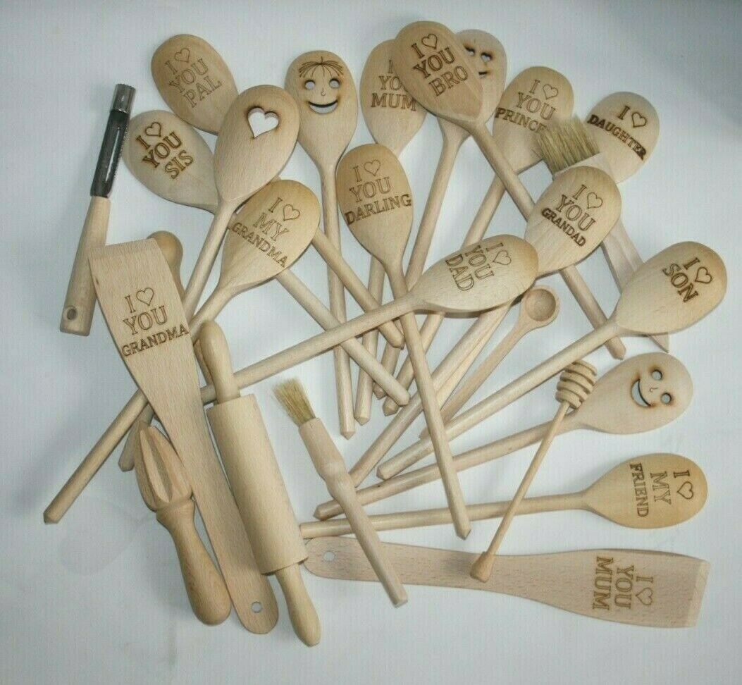 NEW Large Wooden Spoon Kitchen Spices I Love You Grandad EU Made Fast Delivery