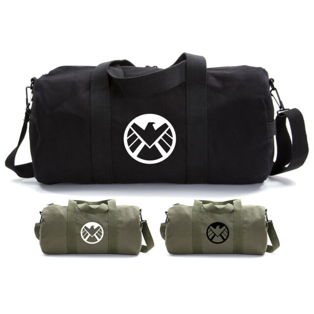 Marvel Agents of Shield Logo Durable Canvas Military Backpack School Book Bag