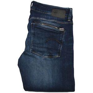 G-star-Brut-pour-Femme-Femmes-Slim-Fit-Droit-Jeans-Delave-Bleu-Jean-Taille-30-34