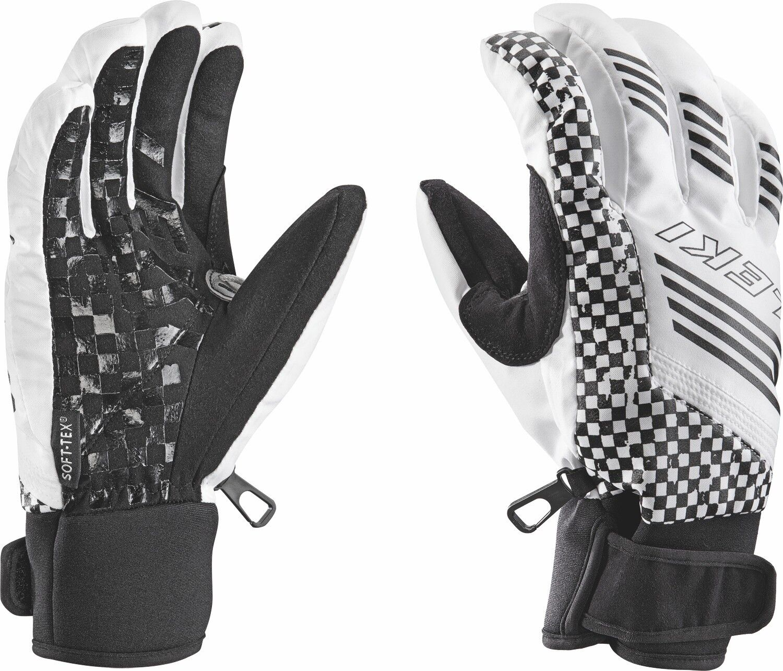 Leki Ski-Handschuhe Herren Weiss Schwarz Freeski Squarot S Powerstrech Trigger S