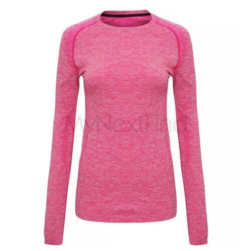TriDri Sports Activewear Womens Seamless /'3D Fit/' Performance Long Sleeve Top