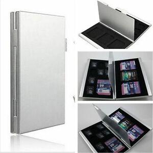 8x TF 4x SD New Aluminum Micro SD MMC TF Memory Card Storage Box Protecter Case