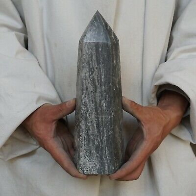 "5.94LB 10.3"" Natural Mapstone Jasper Quartz Crystal Point ..."