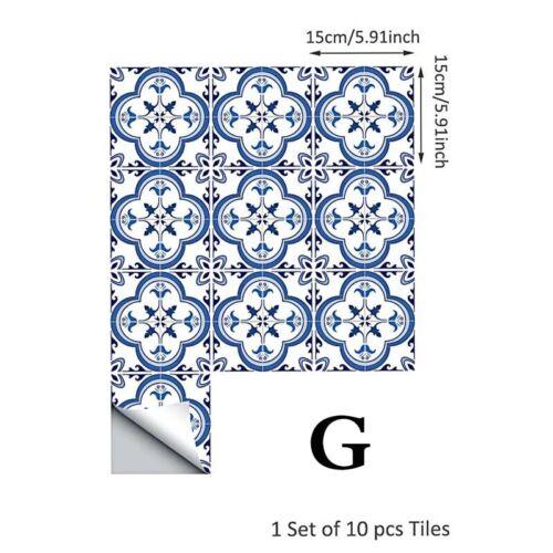 PVC Tile Stickers Bathroom Tile Mosaic Stickers Wall Art Sticker Home Decor