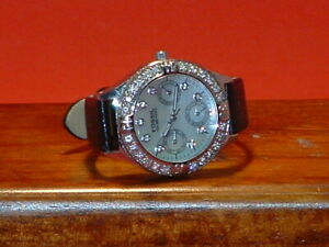 Pre-Owned-Women-s-Fossil-BQ-9124-Mother-of-Pearl-Dress-Watch