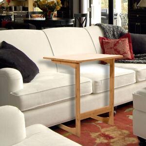 Image Is Loading 60cm L Shaped Bamboo Sofa Side Table Sandal