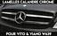 CHROM-GRILL-NIEREN-KUHLERGRILL-LEISTEN-BLENDEN-Fur-MERCEDES-VITO-VIANO-W639-AMG miniatura 1