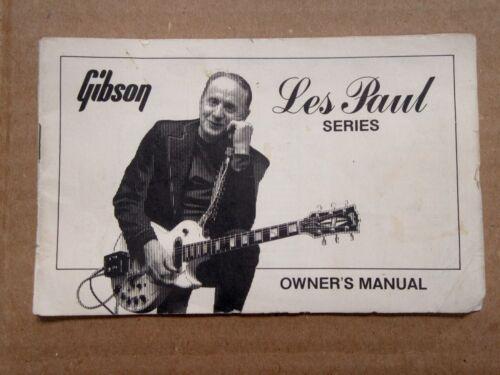 1975-1980 Gibson Les Paul Series Owners Manual