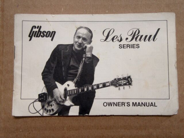 1975-1980 Gibson Les Paul Series Owners Manual