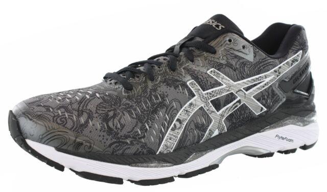 4d459d1f9450 Men s ASICS GEL Kayano 23 Lite Show Running Shoes Carbon silver ...