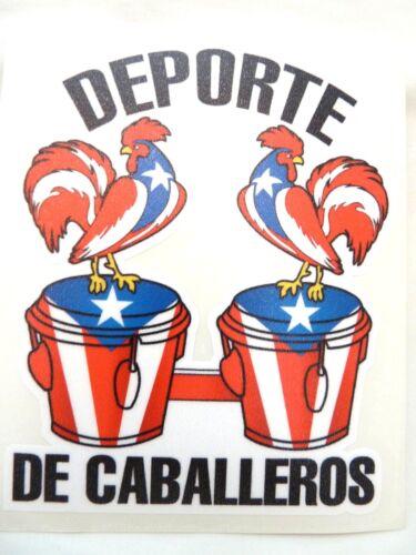 PUERTO RICO ROOSTER GALLOS DEPORTE DE CABALLEROS WITH CONGAS STICKERS