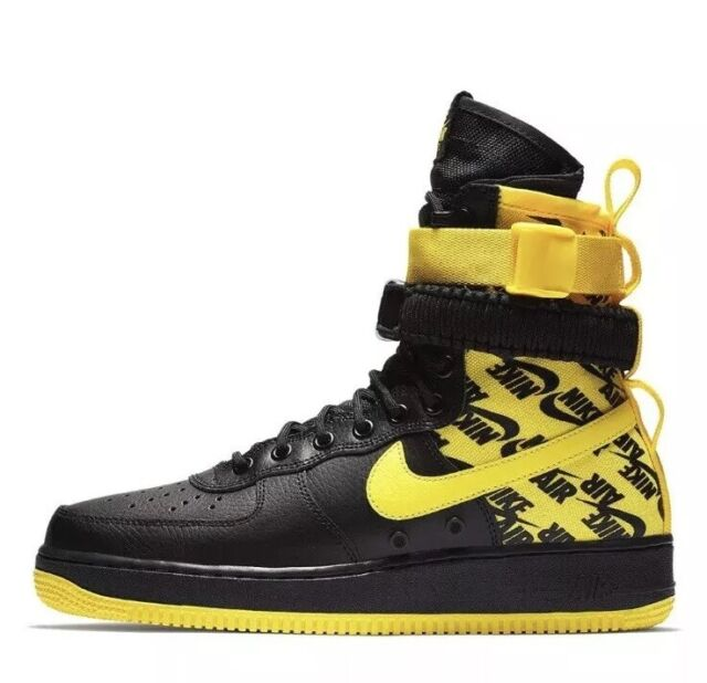 Nike Air Force 1 High Top Shoes SF Af1 Special Field Black Yellow  Basketball 8