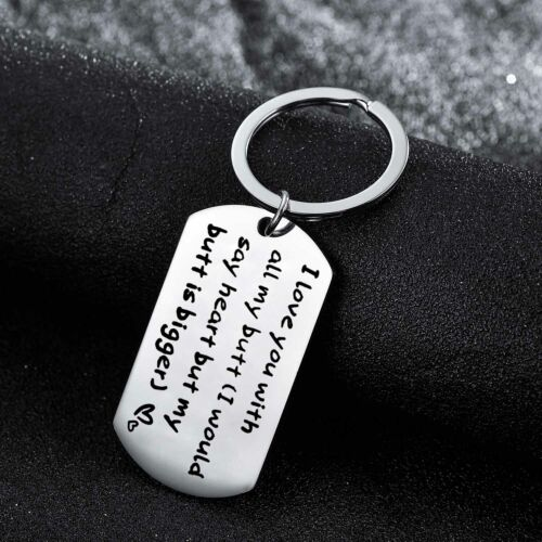 Lover Key Ring I Love You Husband Wife Boyfriend Keychain Couples Gifts Charm