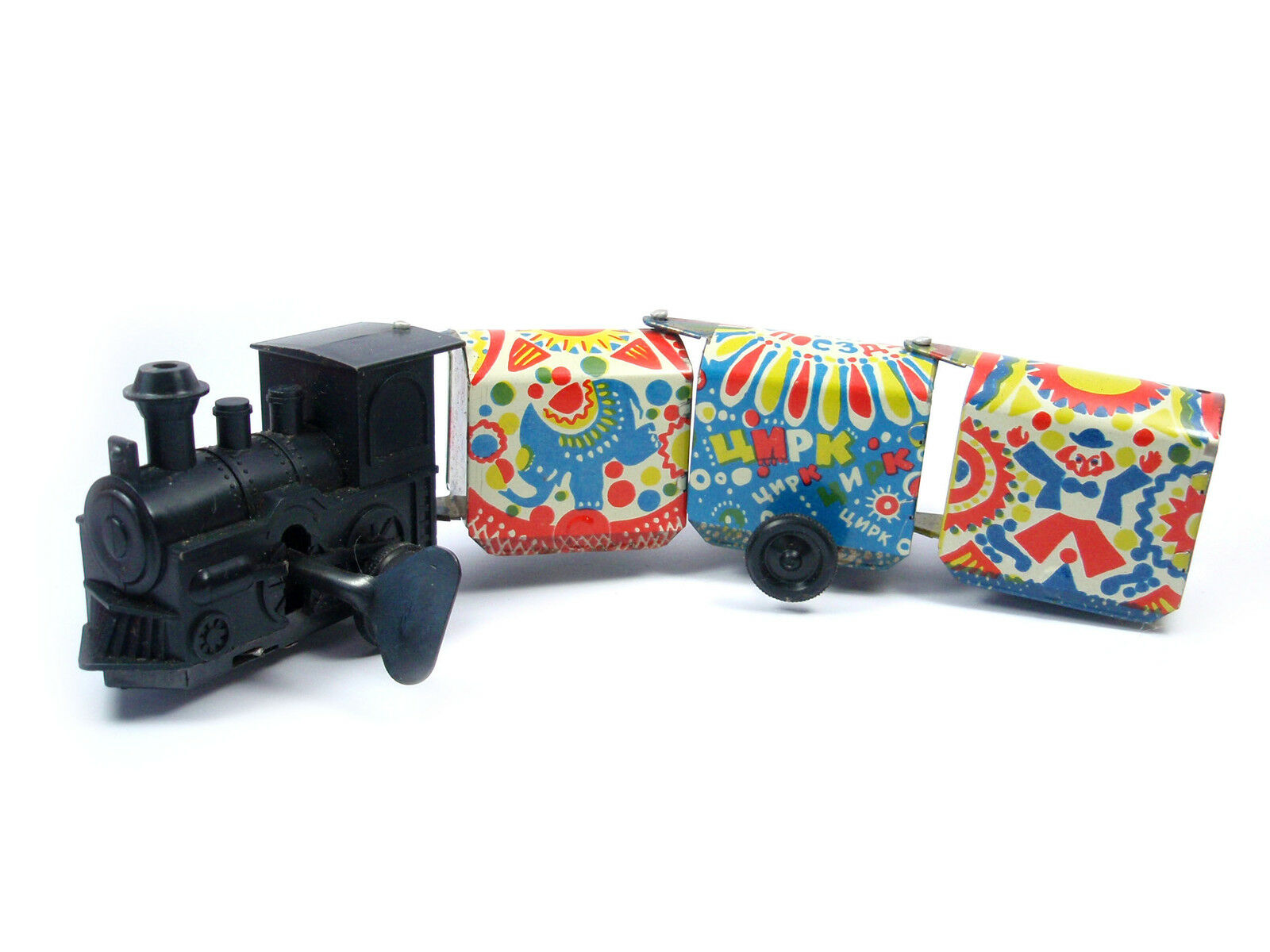 1970s USSR Russian Soviet Tin Toy Fun Train CIRCUS