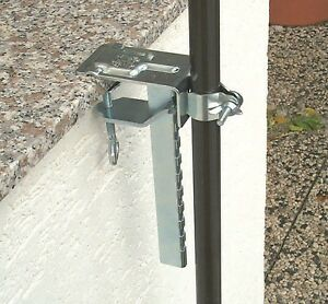 balkonklammer f r sonnenschirm sonnenschirmhalter schirmhalter balkon 450650 e ebay
