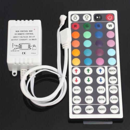 5//10//15//20M 5050//3528 RGB 300 LED Strip Lights 44Keys IR Remote Waterproof DC12V