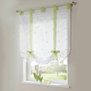 Details zu Raffrollo Küche Raffgardinen Modern Gardinen Wohnzimmer  Fenstergardine Grün