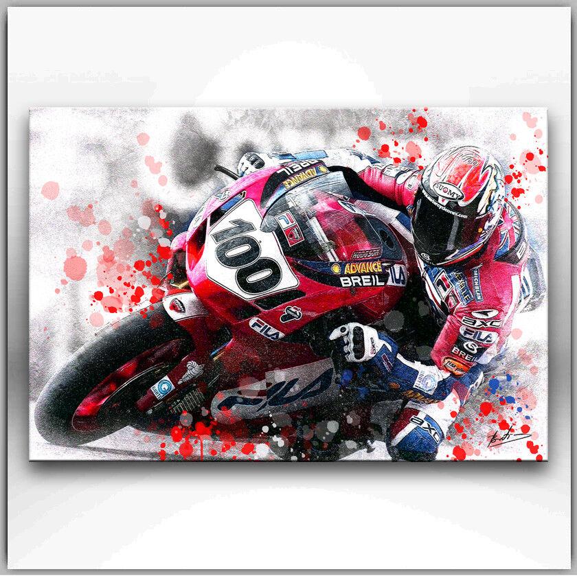 Moto Moteur Sport Abstrait Image sur toile d'art la fresque XXL 1240 A